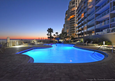 CommunityPoolAtTwilightView2- sterling sands 209